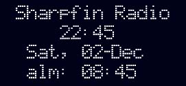 Sharpfin Software Clock Display